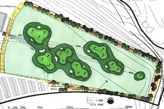 Driving Range Europe Natural Turf Golf Practice